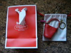 New Coach Legacy Duffle Keychain with Dust Bag Red Barbie Size | eBay BIN $49.00