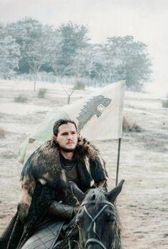 "Jon Snow in Season 6.9, ""Battle of the Bastards."" Intense episode."