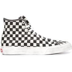 d0089fce7d077d Vans Checked Hi-Top Sneakers ( 65) ❤ liked on Polyvore featuring shoes
