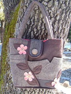 Purse made from a man's suit! cute!