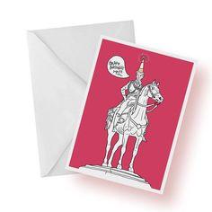 Birthday Card- Glasgow Wellington Statue- GoMa- Glasgow Birthday Card