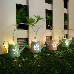 Amazon.de: Valery Madelyn 1.2m Grüße Berühren Eisen Ostern LED-Lichterkette 6 Stück Gießkanne