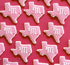 Create. Bake. Love.: Texas butter cookies for a bridal shower!