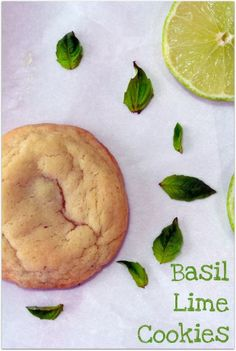 These sound really interesting. But I might have to try them. Basil lime cookies.