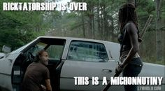 """The Walking Dead has been a one-man-show show ever since Rick (Andrew Lincoln) woke from his coma and took control of the group but the Ricktatorship could be coming to an end. Michonne (Sonequa Martin-Green) challenges his authority in """"The Distance."""" Rick is reluctant to follow Aaron (Ross Marquand) to the Alexandria Safe-Zone but while the rest of the group falls in line, Michonne speaks up and says what the rest are afraid to say…"""