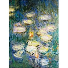 Trademark Fine Art Water Lilies V 1840-1926 Canvas Art by Claude Monet, Size: 18 x 24, Multicolor