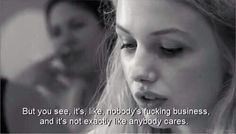 This is exactly how I feel day in day out, but I try my hardest to push it aside and smile. I think that's the hardest thing, faking it. Skins Quotes, Film Quotes, Cassie Skins, Skins Uk, Movie Lines, New Skin, How I Feel, Movies And Tv Shows, Decir No