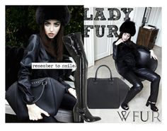 """""""BLACK DRAMA FUR"""" by ladyfur ❤ liked on Polyvore featuring L'ED Emotion Design and Strategia"""