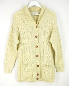 Vintage Fisherman Sweater  Chunky Cable Knit by Refreshnesnes, $50.00
