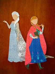 Full length Disney Princess silhouettes Anna by ThePaperDaffodil, $10.00