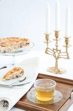 Peach and walnuts pie with a hot cuppa #peachpie #hottea #teaandcake #transylvanianescape @Cincsor.Transylvania.Guesthouses Walnut Pie, Peach, Hot, Gourmet, Peaches