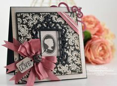 Spellbinders Classic Squares LG ,Classic Squares SM and  Spellbinders S5-083 Antique Frame Becca from Amazing Paper Grace Blog shows how to make this lovely card