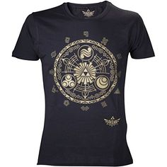 Nintendo Legend Of Zelda Classic Zelda T-Shirt Black Medium *Click image to check it out* (affiliate link)