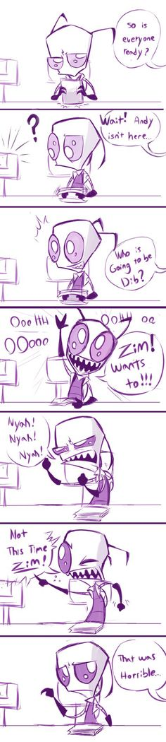 Zim! wants to be the big head by VengefulSpirits on DeviantArt