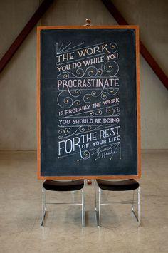Motivational Chalkboard Art by Dangerdust - the dancing rest