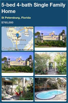 5-bed 4-bath Single Family Home in St Petersburg, Florida ►$765,000 #PropertyForSale #RealEstate #Florida http://florida-magic.com/properties/7262-single-family-home-for-sale-in-st-petersburg-florida-with-5-bedroom-4-bathroom