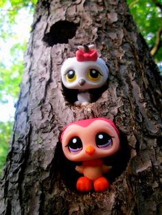littlest pet shop owls in tree