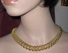 NAPIER Necklace Choker  ARTICULATED Chunky by VINTAGEARTJEWELRY