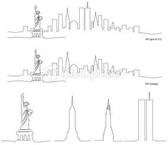Stylized Skyline of New York City Royalty Free Stock Vector Art Illustration New York Tattoo, Nyc Tattoo, City Tattoo, Nyc Skyline, Skyline Art, Ny Skyline Tattoo, New York Decor, Motto, Tattoos