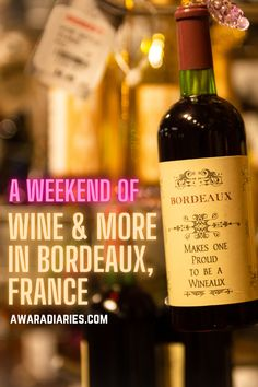 Bordeaux is the perfect weekend destination to let your hair down and have a great time with your loved ones in the company of elicious French food, great views and some of the finest wine that is Bordeaux wine. Here's your guide to spending the perfect weekend in this French city. #bordeaux #wineweekend #holidayinfrance
