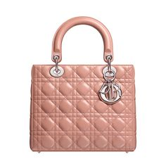 Rosewood leather 'Lady Dior' bag Size: 24cm x 20cm x 11cm - A timeless and unique work of art, the 'Lady Dior' bag is imbued with the Couture spirit of Dior. - Meticulously crafted by hand, this rosewood lambskin bag is accentuated by the 'Cannage' stitching emblematic of Dior. - Carry by hand, on the wrist or arm for unbeatable elegance.  - 'D.i.o.r' letters in silver-tone metal. - 1 zipped pocket