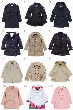 little girl trench coats Little Girl Outfits, Cute Outfits For Kids, Little Girl Fashion, Toddler Fashion, Kids Fashion, Zara Kids, Childrens Coats, Baby Coat, My Baby Girl