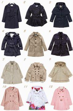 little girl trench coats / Gabardinas para niña primavera verano 2014