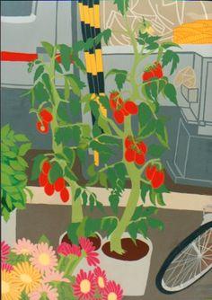 プチトマト。下北沢の花屋の店先で。