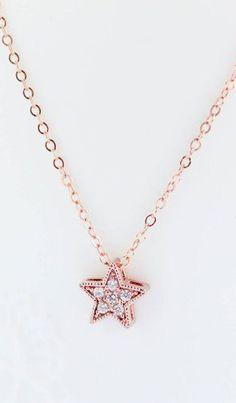 Star Necklace Rose Gold Necklace Rose Gold Star