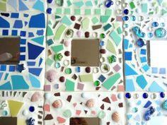 """Workshop """"Spiegel mozaïeken"""" tijdens verjaardagsfeestje van Noa (9 jaar).Verzorgd door de Knutselkantine.nl"""