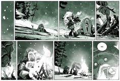 """Quest for Fire. From """"The Abominable Charles Christopher"""" by Karl Kerschl."""