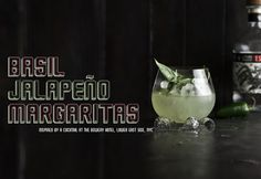 What Katie Ate, Basil Jalapeño Margaritas.