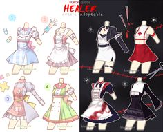[OPEN] Healer Outfit Adoptable #14 by Black-Quose.deviantart.com on @DeviantArt