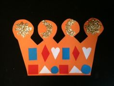 Kroon Koningsdag glitters Arts And Crafts, Diy Crafts, Art For Kids, Workshop, King, Art For Toddlers, Art Kids, Atelier, Gift Crafts