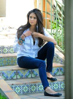 Nina Dobrev my favorite actress. Look her flawless face and body