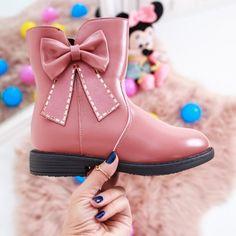 Cizme copii Delfina roz Olivia Black, Flocking, Ugg Boots, Ballerina, Rubber Rain Boots, Uggs, Casual, Shoes, Fashion