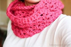 One Dog Woof: Infinity Scarf Free Pattern