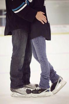 Engagement Photoshoot, #hockey #arena #engagement