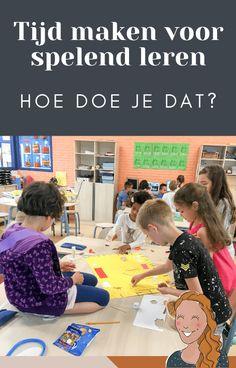 Hoe maak je tijd voor spelend leren?   Klas van juf Linda Vader, Tips, Education, School, Toilet, Cards, Blog, Litter Box, Blogging