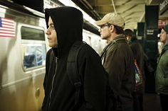 """James Plouffe, cybersecurity consultant for """"Mr. Robot,"""" reveals how he helped make hacking a reality on the USA Network drama series starring Rami Malek and Christian Slater. Mr Robot Season, Carly Chaikin, Fall Tv Shows, Talking To The Dead, Christian Slater, Rami Malek, The Daily Show, First Tv"""