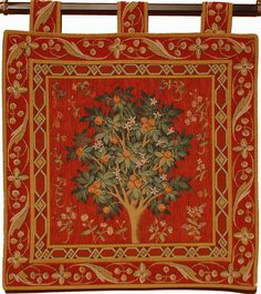 Tapestry cushion covers - The Lady and the Unicorn. Tree Tapestry, Wall Tapestry, Large Cushion Covers, Medieval Tapestry, English Heritage, Tapestries, Quilts, Orange, Quilt