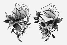 Cool Skull Tattoos For Women – My hair and beauty Skull Tattoos, Rose Tattoos, Body Art Tattoos, Sleeve Tattoos, Space Tattoos, Abstract Tattoo Designs, Tattoo Abstract, Watercolor Tattoos, Geometric Tattoos