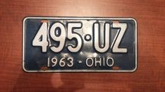 Vintage 1963 Ohio License Plate by Salvageflags on Etsy