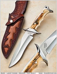 Knifemaker Lamont Coombs - Designer Paul Rohaly.