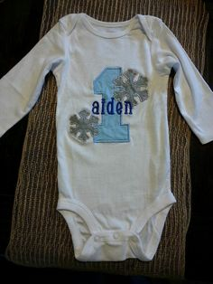 Boys/ Girls First Birthday Winter ONEderland party applique shirt onesie