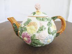 Vintage Teapot Vintage Floral Teapot Ceramic by TheDustyOldShack, $18.00