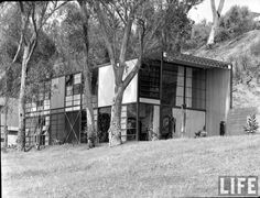The Eames House is a landmark of mid-20th century modern architecture located at 203 North Chautauqua Boulevard in the Pacific Palisades neighborhood of Los Angeles. It was constructed in 1949 by husband-and-wife design pioneers Charles and Ray Eames, to serve as their home and studio.