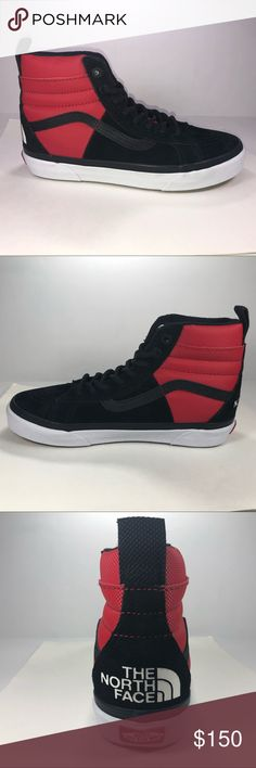 Vans X The North Face Sk8 Hi 46 MTE DX Red Shoes New With Damaged Box. Vans X The North Face Sk8 Hi 46 MTE DX Red, Black & White Sneakers Womens Size 8 VN0A3DQ5QWS Vans X The North Face Shoes Sneakers