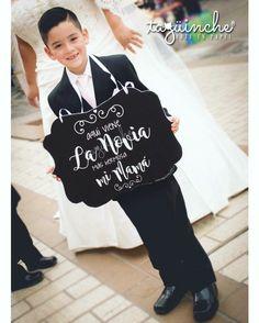 Letrero paje, letreros boda #bodas #letrerosparafiesta www.taguinche.com