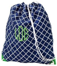 Monogrammed Personalized Preppy Lime Green Navy by AbcandCo, $18.95